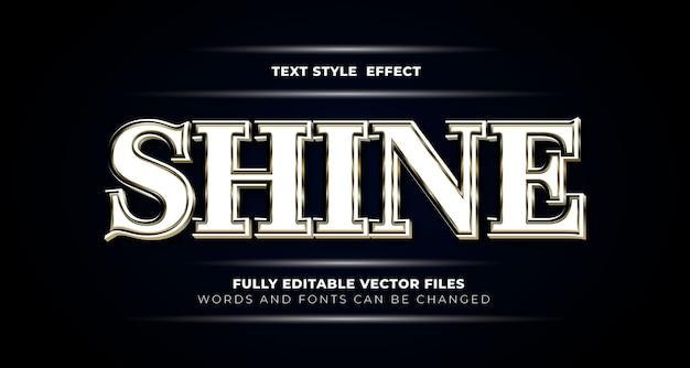 Estilo de efeito de texto editável shine