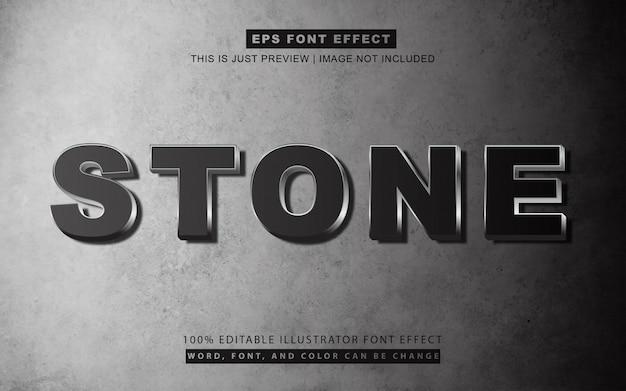 Estilo de efeito de texto em pedra preta 3d