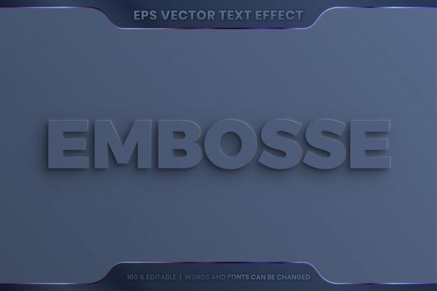 Estilo de efeito de texto em relevo elegante 3d realista editável