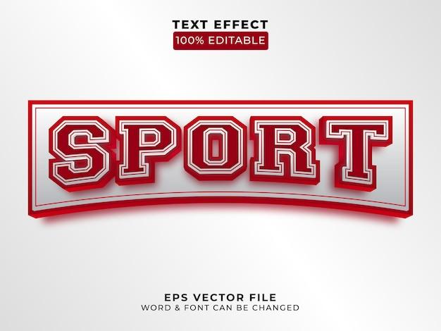 Estilo de efeito de texto esporte 3d vetor de efeito de texto editável