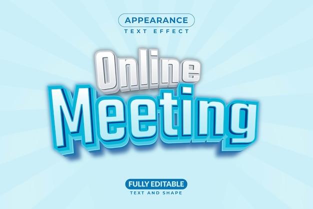 Estilo de efeito de texto grátis para reuniões online