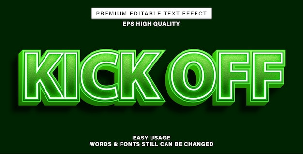 Estilo de efeito de texto inicial