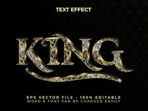 Estilo de efeito de texto king textura de mármore de efeito de texto editável