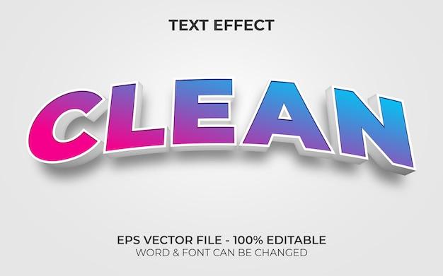 Estilo de efeito de texto limpo tema curvo de efeito de texto editável