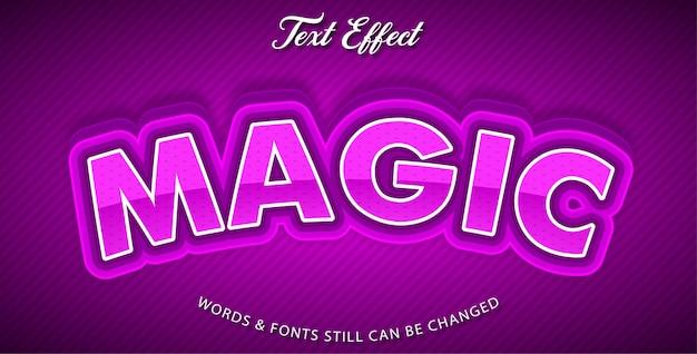 Estilo de efeito de texto mágico