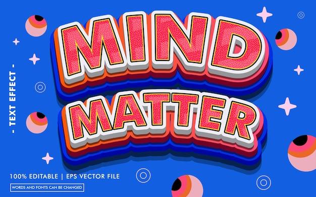 Estilo de efeito de texto mind matter