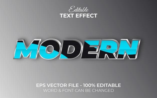 Estilo de efeito de texto moderno 3d efeito de texto editável