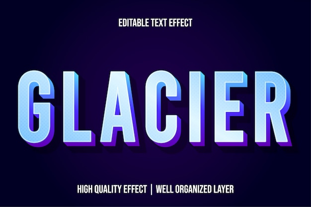 Estilo de efeito de texto moderno de geleira