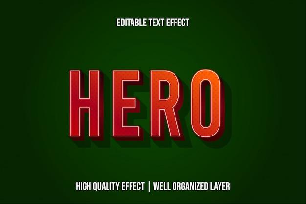 Estilo de efeito de texto moderno herói