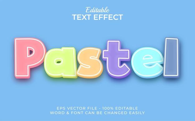 Estilo de efeito de texto pastel efeito de texto editável