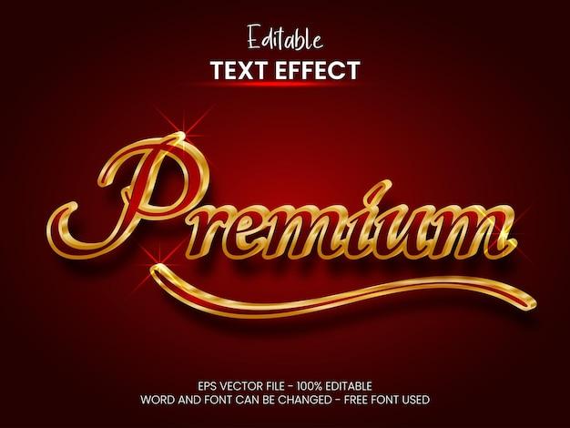 Estilo de efeito de texto premium efeito de texto editável