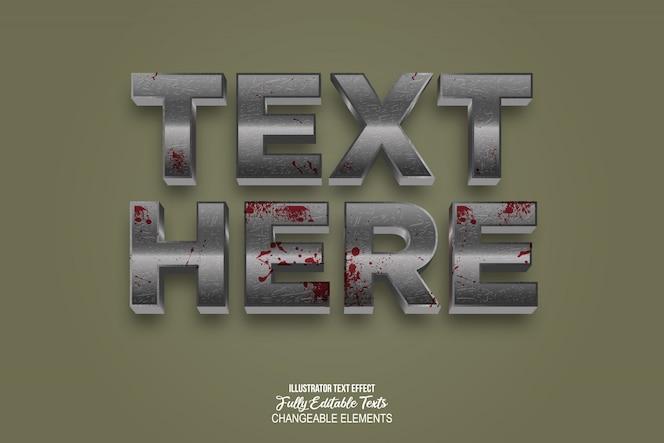 Estilo de efeito de texto realista 3D