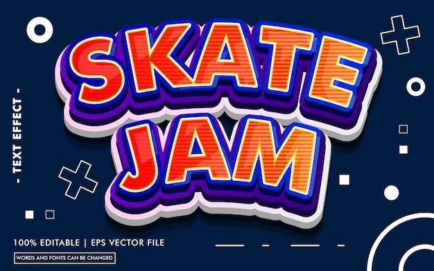 Estilo de efeito de texto skate jam
