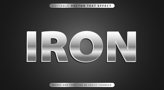 Estilo de efeito de texto totalmente editável