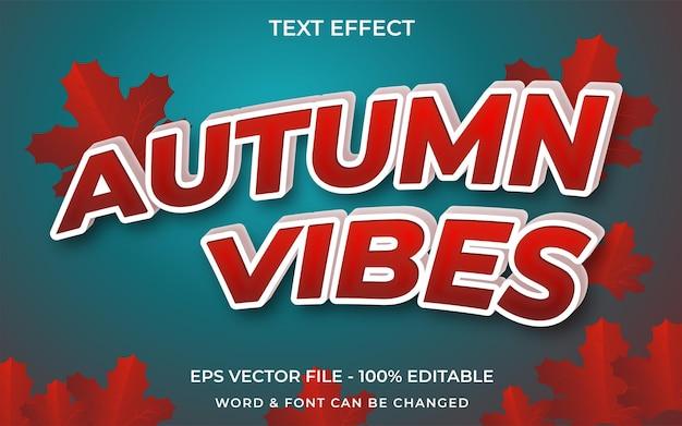 Estilo de efeito de texto vibrações de outono efeito de texto editável