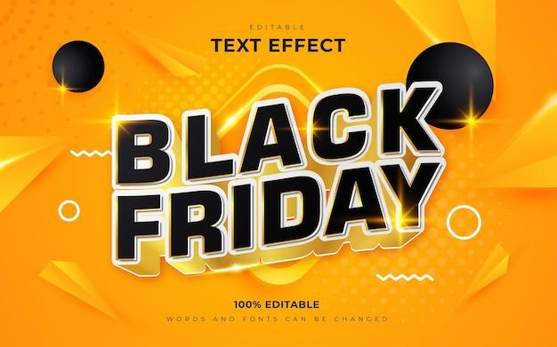 Estilo de efeitos de texto 3d black friday