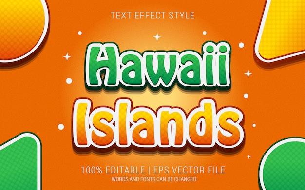 Estilo de efeitos de texto das ilhas havaí