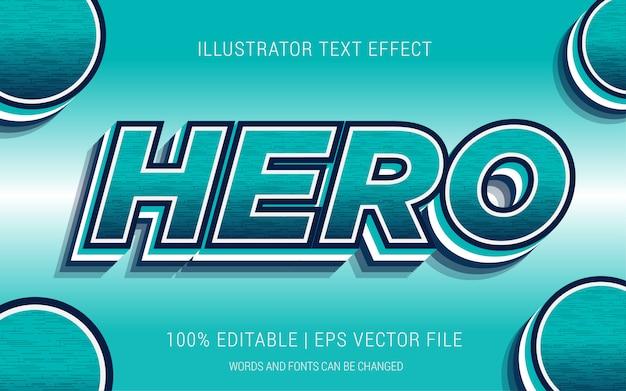 Estilo de efeitos de texto de herói