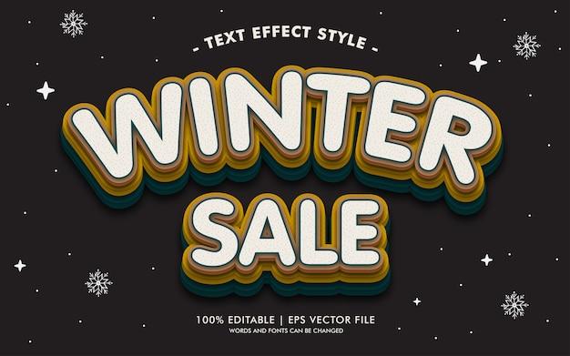 Estilo de efeitos de texto de venda de inverno