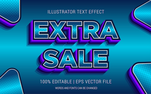Estilo de efeitos de texto de venda extra