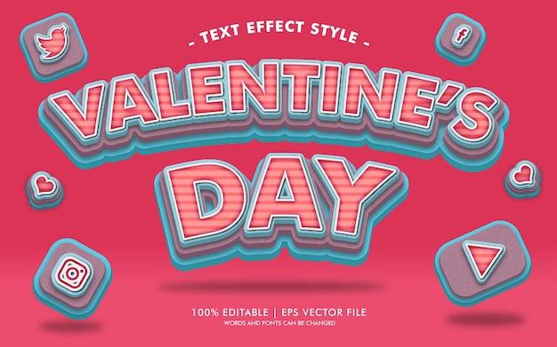 Estilo de efeitos de texto do dia dos namorados