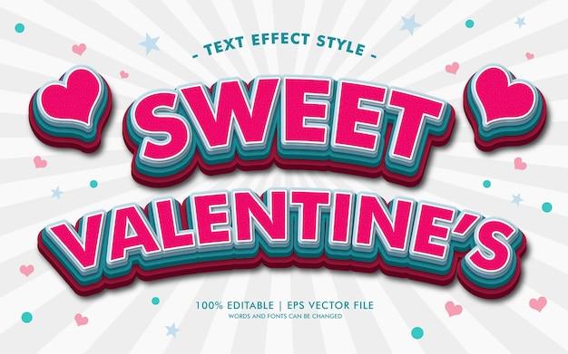 Estilo de efeitos de texto doce do valentim