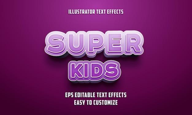 Estilo de efeitos de texto editáveis nas cores roxa e branca