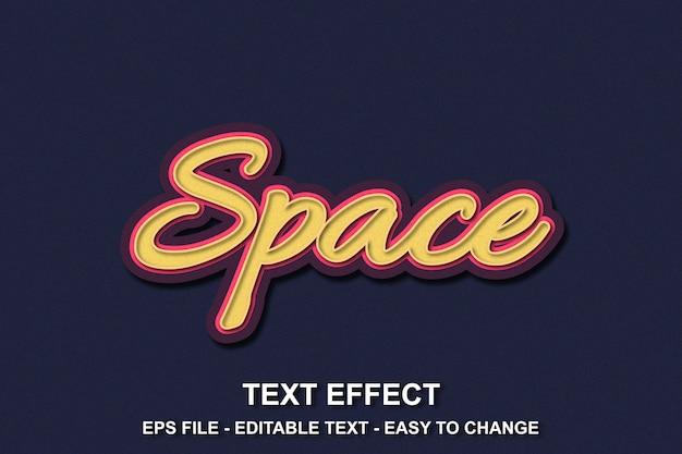Estilo de espaço de efeito de texto