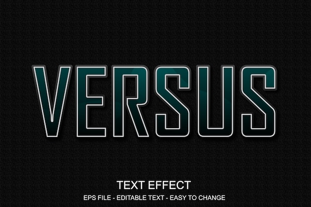 Estilo de esporte de efeito de texto editável