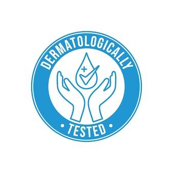 Estilo de etiqueta testada dermatologicamente
