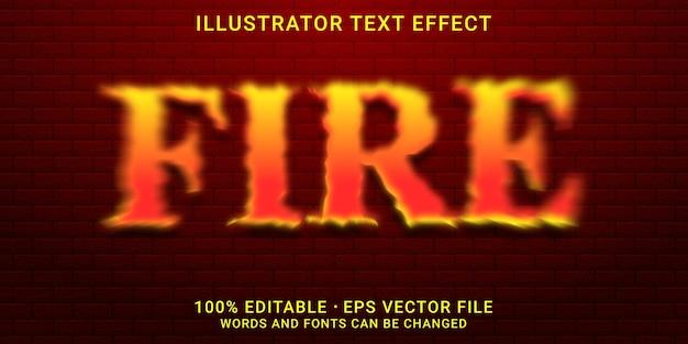 Estilo de fogo de efeito de texto editável