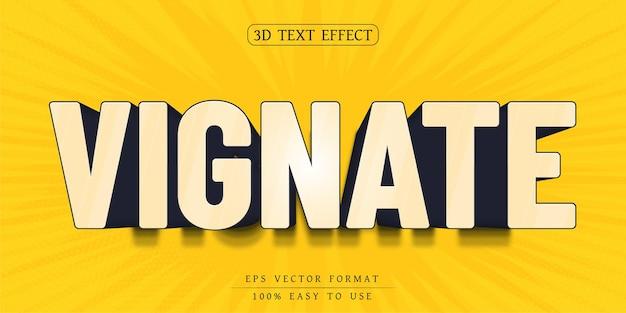 Estilo de fonte de desenho animado com efeito de texto editável