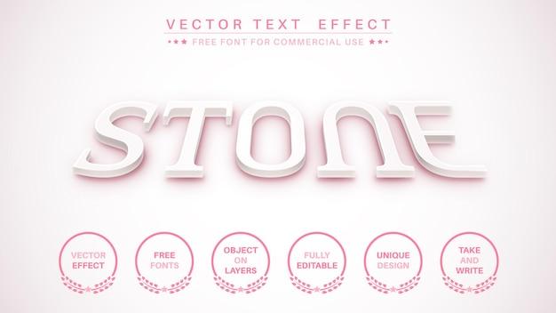 Estilo de fonte de edição de texto de edição de pedra 3d