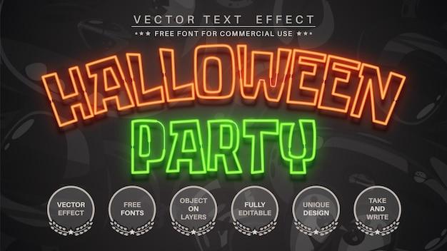 Estilo de fonte de edição de texto de festa de halloween