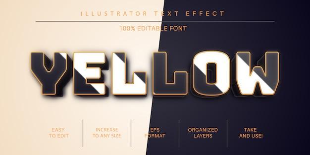 Estilo de fonte de efeito de texto dourado 3d