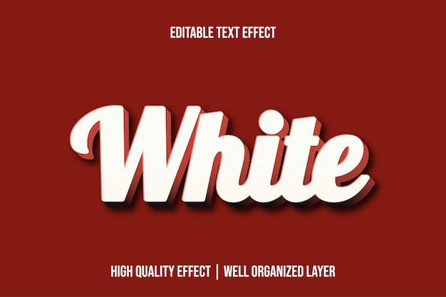 Estilo de fonte de efeito de texto editável em 3d branco