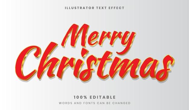 Estilo de fonte de efeito de texto editável feliz natal