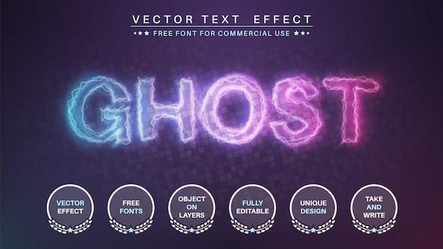 Estilo de fonte de efeito de texto editável ghost