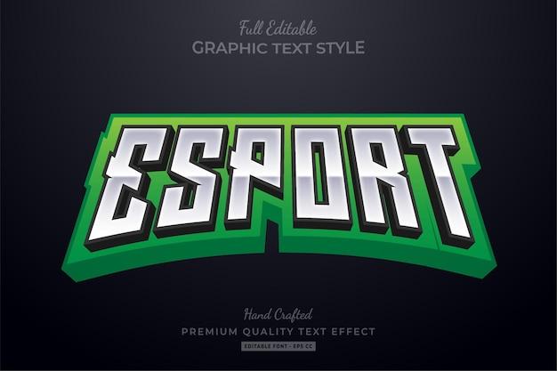 Estilo de fonte do efeito de texto editável do esport team green
