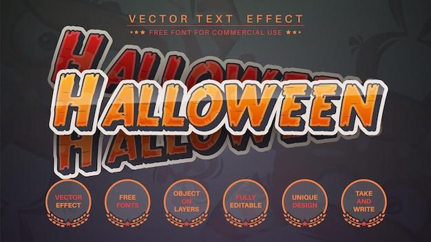 Estilo de fonte editável de efeito de texto de edição de adesivo de halloween
