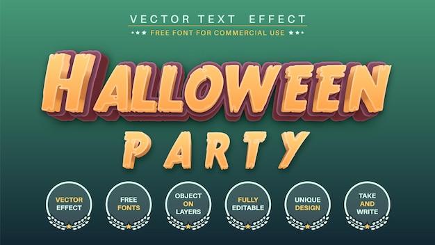 Estilo de fonte editável de efeito de texto de edição de festa de halloween