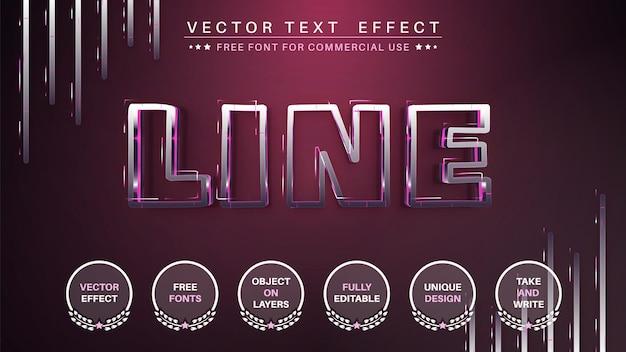 Estilo de fonte editável de efeito de texto em metal de aço