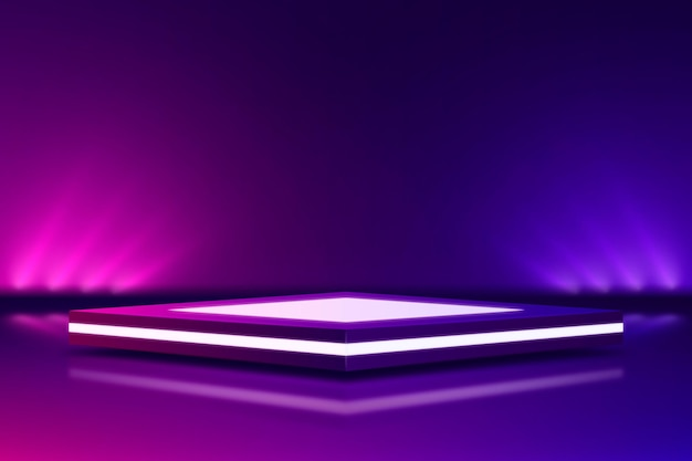 Estilo de fundo abstrato com luzes de néon