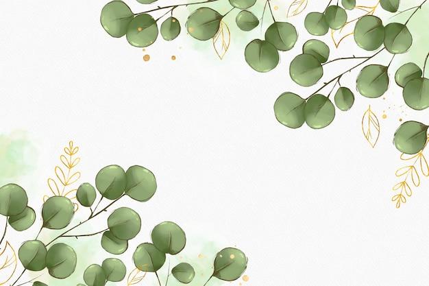 Estilo de fundo com folha dourada