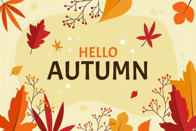 Estilo de fundo de folhas de outono