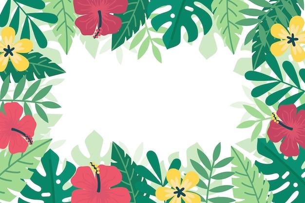 Estilo de fundo de folhas tropicais