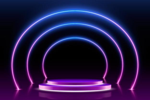 Estilo de fundo de luzes de néon