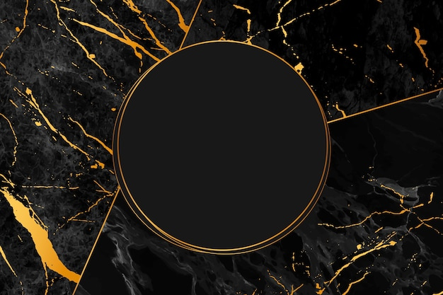 Estilo de fundo de mármore preto e dourado