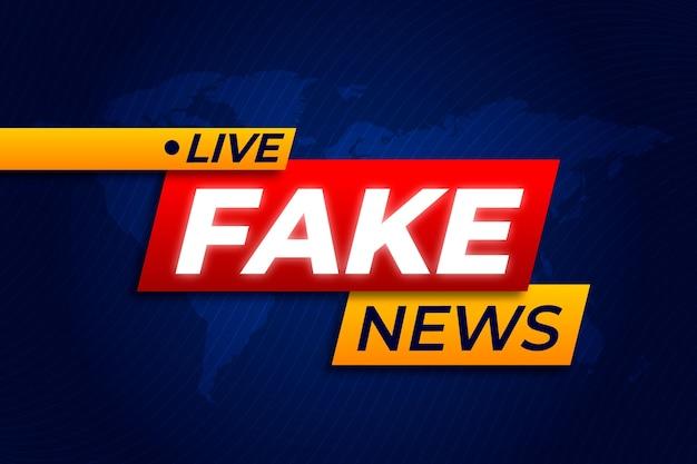 Estilo de fundo de notícias falsas ao vivo