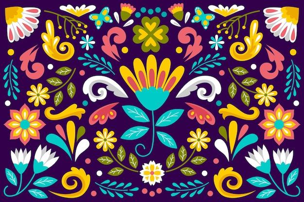Estilo de fundo mexicano colorido
